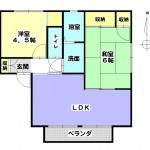 和室は洋室に変更しました。(間取)